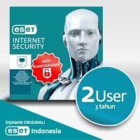 Antivirus ESET Internet Security - 2 Komputer 3 Tahun