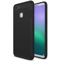 PS128 - BRUSHED COMBINATION CASE OPPO F5 BLACK