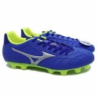 Sepatu Sepak Bola Mizuno Rebula V3 - Strong Blue/Silver/Saffety Yellow