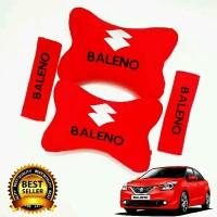 Bantal Mobil Suzuki Baleno Merah Bordir Full Bordir