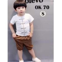 Baju Setelan Anak Laki-laki Motif Kancing China Pakaian Impor Anak