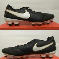 new sepatu bola nike tiempo genio II leather fg 819213 010 original