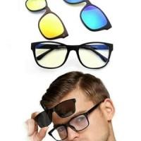 Kacamata kaca Mata ASK VISION 3 IN 1 Magnet Magic HD Vision