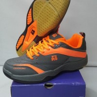 Woyo Sepatu Badminton Rs Sirkuit 571 Grey Lemon Diskonn