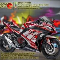 Decal Striping Kawasaki Ninja 250 FI – Star Merah 039 Full Body