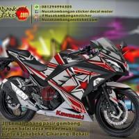 Decal Striping Kawasaki Ninja 250 FI – Star Merah Hitam 040