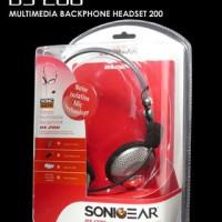 SONICGEAR BS200 - PC Stereo Mutimedia Backphone Heatset Murah