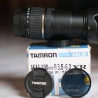 Lensa TAMRON 18-200 mulus for CANON