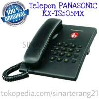 Telpon PANASONIC HITAM KX-TS505MX Pesawat Telepon Telfon Kabel KANTOR