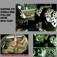 Sarung Jok Mobil Full Set HONDA BRIO Motif Moo/Sapi Hitam Putih