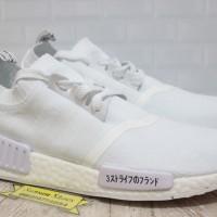 Sepatu Adidas NMD R1 Primeknit Japan Triple White