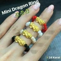 cincin emas ASLI naga pixiu 24karat hongkong
