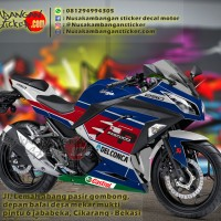 Decal Striping Kawasaki Ninja 250 FI – Delcona Merah Biru 027