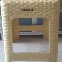 BANGKU / KURSI PLASTIK NAPOLY 313R MODEL ANYAMAN ROTAN