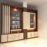 Partisi Penyekat Ruangan Modern Minimalis 300 cm x 250 cm