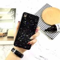 Sparkling Black Case Motif Glitter Tanam Oppo F1s/ F3/ F5/ A37/ A39/ A