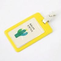 About Cactus Leather Badge Holder / Tempat Tanda Pengenal