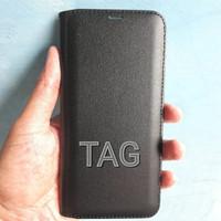 Oppo F5 black premium xxx leather flipcase flipcover case ori model