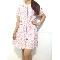 FS - Daster LV /gudetama pink / squirrel katun jepang pajamas piyama