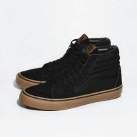 Sepatu Pria Sneakers Tinggi Vans Premium Black Gum Casual Keren Terl