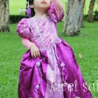 WE83/baju dress kostum rapunzel princess ungu import / dropship 369