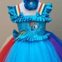 WE100/Dress Baju Pesta anak MY little Pony