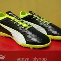 WE164/Sepatu Futsal Puma evoTOUCH 3 Black Yellow - TURF