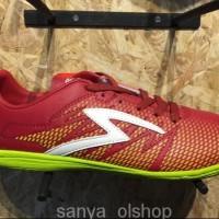 WE155/Sepatu futsal specs original Apache in dark red/solar slime new