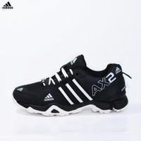Sepatu Sport Adidas AX2 Goretex Hitam Putih - Outdoor Pria - AX 15
