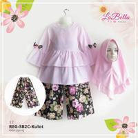 Reg SB2C Kulot 11 Baju Setelan Anak Muslim LaBella Kulot Soft Pink