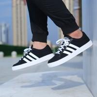 Sepatu Adidas Neo VS Set Black White Original