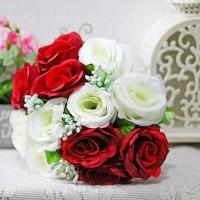 bunga plastik hias artificial handbouquet hand bouquet + BABY BREATH 3