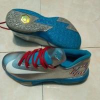 sepatu basket nike zoom KD 6 - Kevin Durant silver-biru premium import