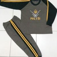 Baju Kaos Setelan Lengan Panjang Anak Polisi TNI Army Non Doreng