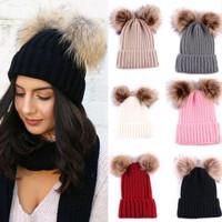 Winter Knitted Beanie Hat Pompom / Topi Kupluk Rajut Unisex Adult Kids
