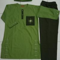 Baju Muslim ( Setelan Koko Anak Laki Laki ) usia 10 - 12 thn