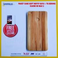 PAKET Case Xiaomi Mi Max 2 Backdoor Cover Motif Kayu Wood Anti Crack