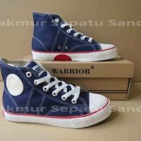 Sepatu Sekolah - Warrior Classic HC - Navy / Blue