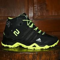 Sepatu terbaru Adidas AX2 Boots Goretex Hitam Hijau Stabilo