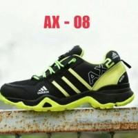 Sepatu terbaru Adidas AX2 Goretex Hitam Hijau Stabilo / Sport Pria