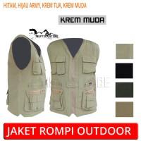 Jaket rompi army outdoor keren (motor, mancing, safety, hunting)