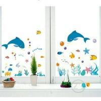 wallsticker anak baby cute fish dolphin ikan laut