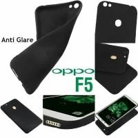 Case Oppo F5 Soft Full Black Silicone Oppo F5