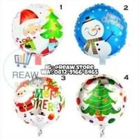 Balon Foil Natal / Merry Christmas Bulat