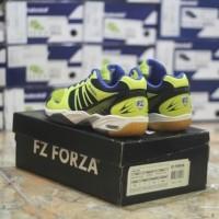 new sepatu badminton forza ultimate shoes neon yellow