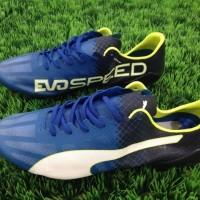 Sepatu Bola Puma EvoSpeed SL Biru Hitam
