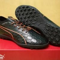 Sepatu Futsal Puma evoTOUCH 3 Black Orange TURF