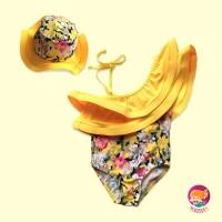 Baju Renang Anak /Bayi /Bikini Anak/ Tankini Floral Yellow Sabrina