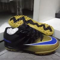 Sepatu Futsal Anak Nike Mercurial Superfly CR7 TF Black Gold