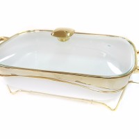 Food warmer rectangular Vicenza / penghangat makanan persegi / B760